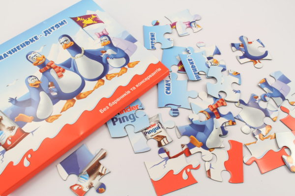 магнитный пазл в конверте из картона