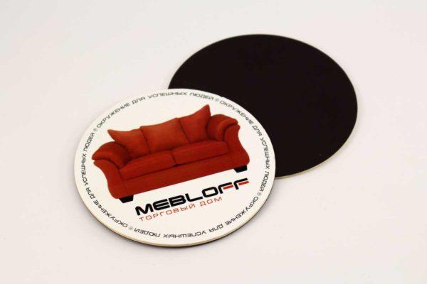 магнитный костер из пробки или картона с прямой полноцветной печатью или кашировкой