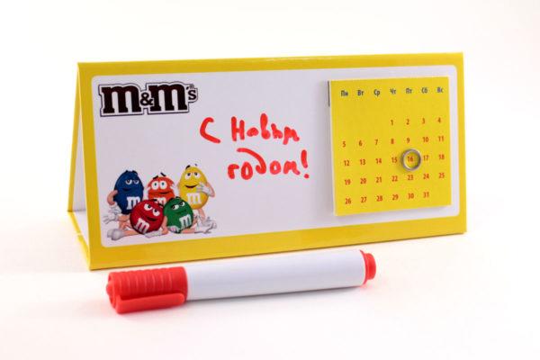 Вечный календарь на стол, со сменными блоками