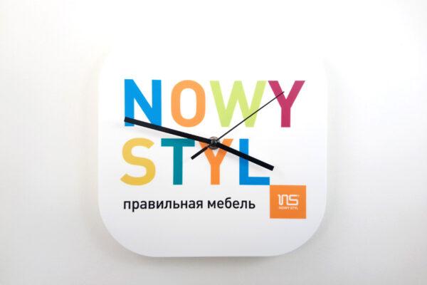 часы настенные пластиковые с печатью логотипа