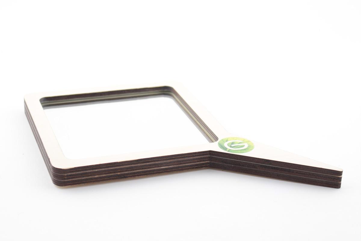 зеркало ручное с логотипом