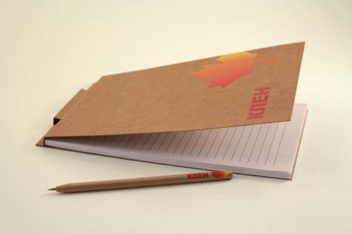 экоблокнот с ручкой