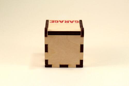коробка из фанеры порезанной лазером