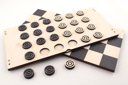 шашки из фанеры